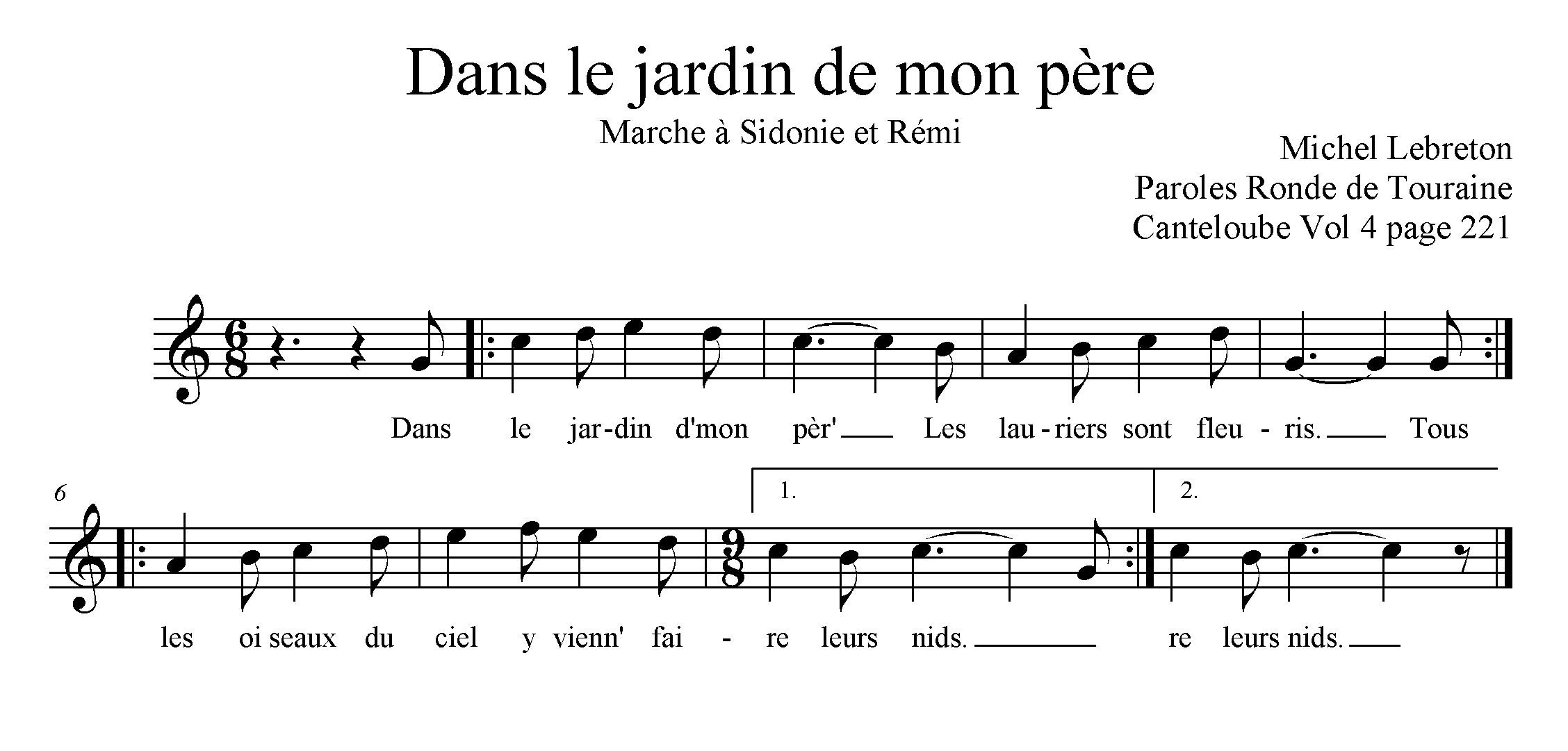 P dagogie des musiques traditionnelles for Au jardin de mon pere camping